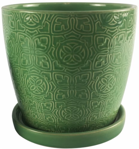 The Joy of Gardening Thames Planter - Green Perspective: front