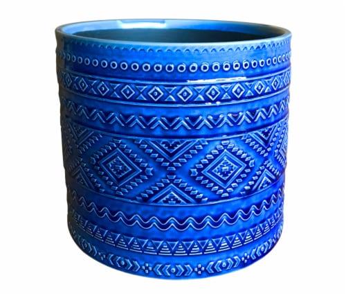 The Joy of Gardening Kingtex Planter - Cobalt Blue Perspective: front