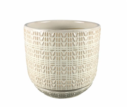 The Joy of Gardening Ropecraft Planter - Cream Perspective: front