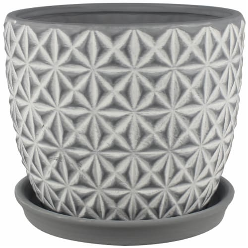 The Joy of Gardening Tribeca Planter - Charcoal Wash Perspective: front
