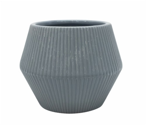 The Joy of Gardening Rena Planter - Gray Perspective: front