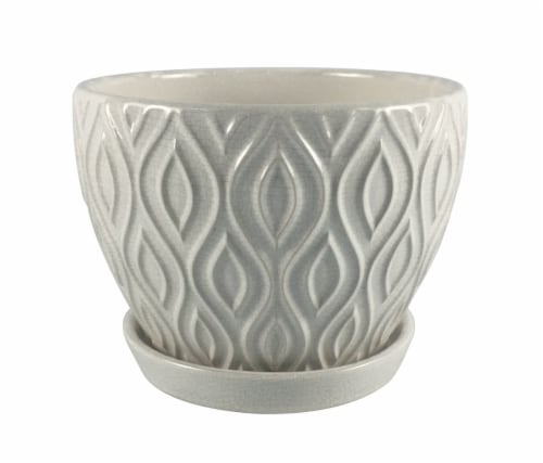 The Joy of Gardening Featherlinx Planter - White Perspective: front