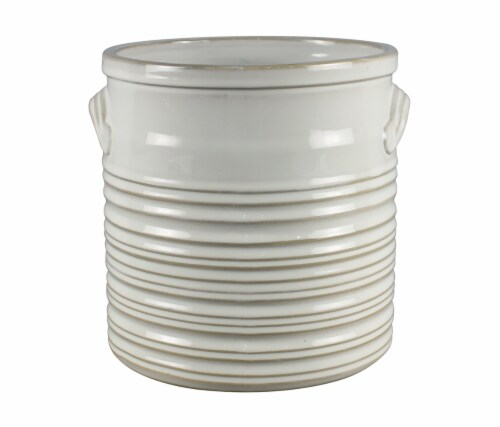 The Joy of Gardening Farmstead Planter - Cream Perspective: front