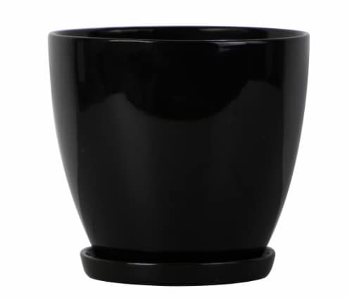 The Joy of Gardening Classic Egg Planter - Black Perspective: front