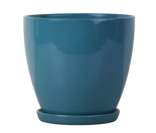 The Joy of Gardening Classic Egg Planter - Teal Perspective: front