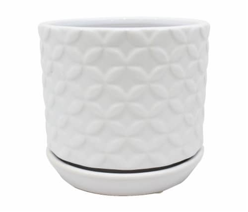 The Joy of Gardening Rosaline Planter - White Perspective: front