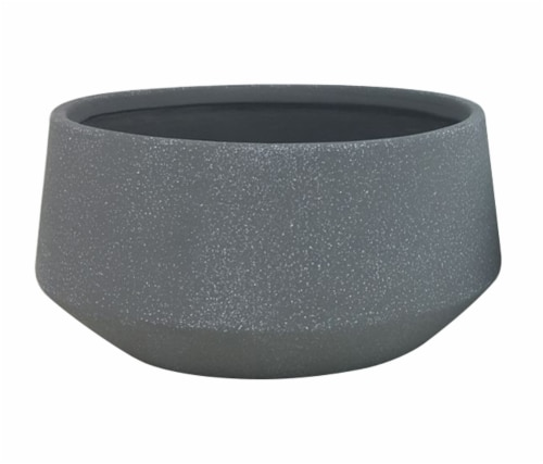 The Joy of Gardening Faux Cement Gavel Bowl - Gray Perspective: front