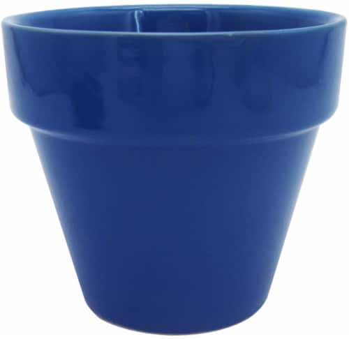 The Joy of Gardening Electric Pot - Blue Perspective: front