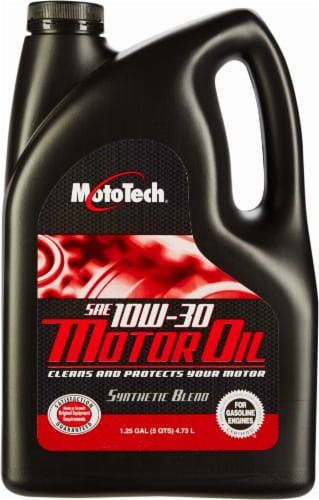 Moto Tech® SAE 10W-30 Synthetic Blend Motor Oil Perspective: front