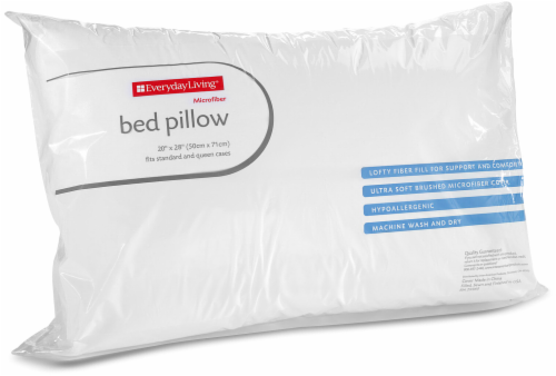 Everyday Living® Microfiber Bed Pillow - White Perspective: front