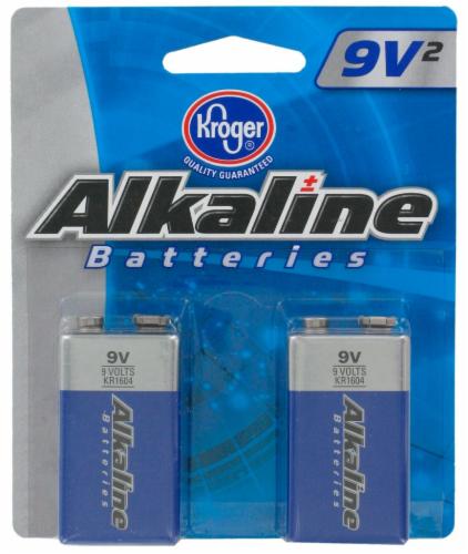 Kroger® 9 Volt Alkaline Batteries Perspective: front