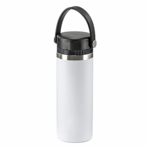 HD Designs Outdoors Double Walled Stainless Steel Tritan Spout Water Bottle - Bright White Perspective: front