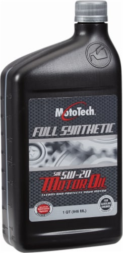Moto Tech® 5W-20 SAE Full Synthetic Motor Oil Perspective: front