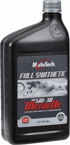 Moto Tech® 5W-30 SAE Full Synthetic Motor Oil Perspective: front
