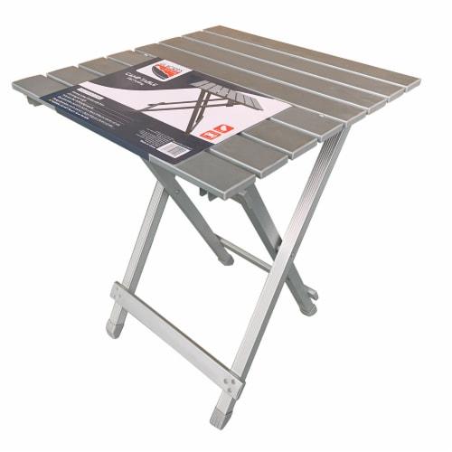 Glacier's Edge Aluminum Folding Camp Table - Silver Perspective: front