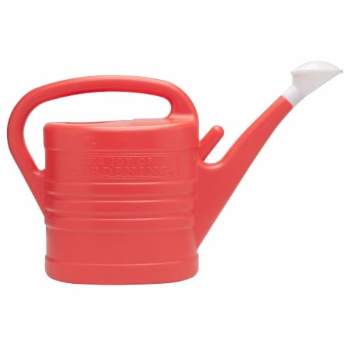 The Joy of Gardening® Watering Can - Red Salsa Perspective: front