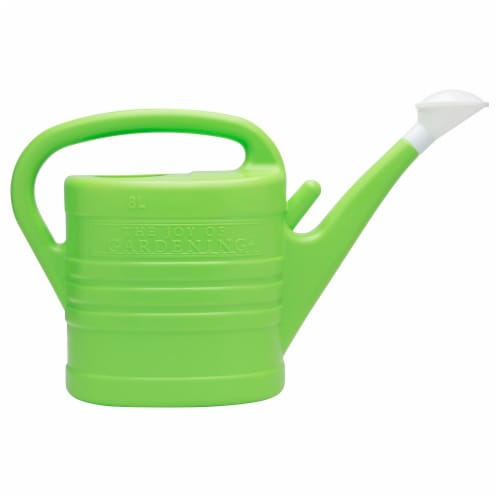 The Joy of Gardening® Watering Can - Lime Green Perspective: front