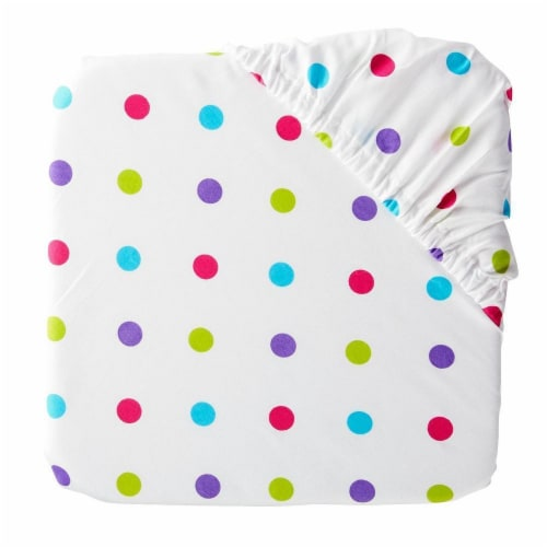 Everyday Living 250 Thread Count Polka Dot Fitted Sheet Perspective: front