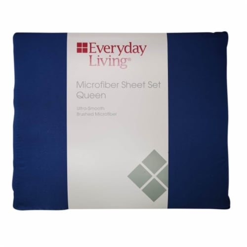 Everyday Living Microfiber Sheet Set - 3 Piece - Dutch Blue Perspective: front