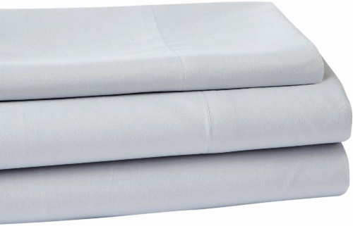 Everyday Living Microfiber Striped Sheet Set - 3 Piece - High Rise Gray Perspective: front