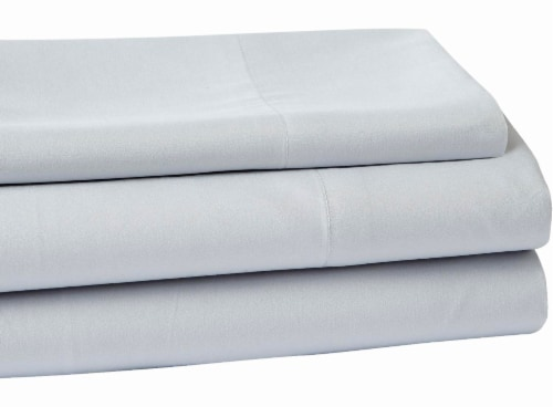Everyday Living Microfiber Sheet Set - 3 Piece - High Rise Gray Perspective: front