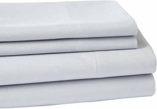 Everyday Living Microfiber Sheet Set - 4 Piece - High Rise Gray Perspective: front