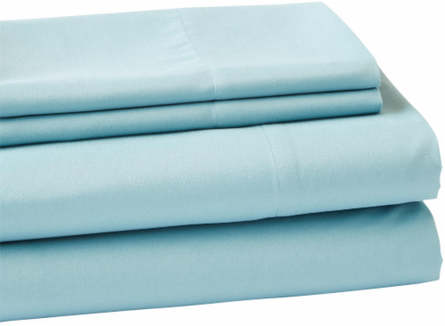 Everyday Living Microfiber Sheet Set - 4 Piece - Cameo Blue Perspective: front