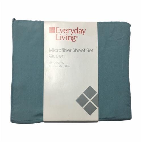 Everyday Living® Microfiber Sheet Set - 4 Piece - Cameo Blue Perspective: front