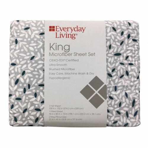 Everyday Living® Microfiber Sheet Set - Vines Perspective: front
