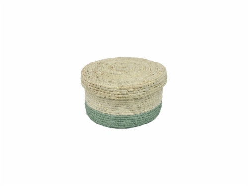 HD Designs® Corn Rope Basket - Small - Mint Perspective: front