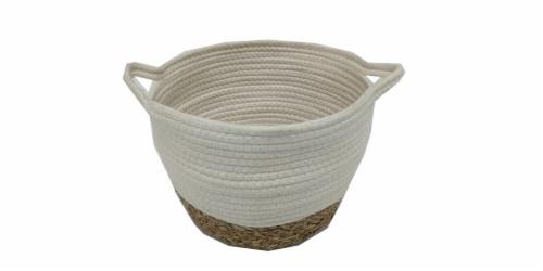 HD Designs Medium Cotton & Grass Storage Basket Perspective: front