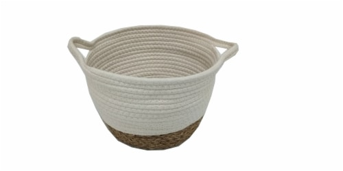HD Designs Small Cotton & Grass Storage Basket Perspective: front