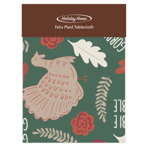 Holiday Home® Felix Plaid Tablecloth - Gobble Perspective: front