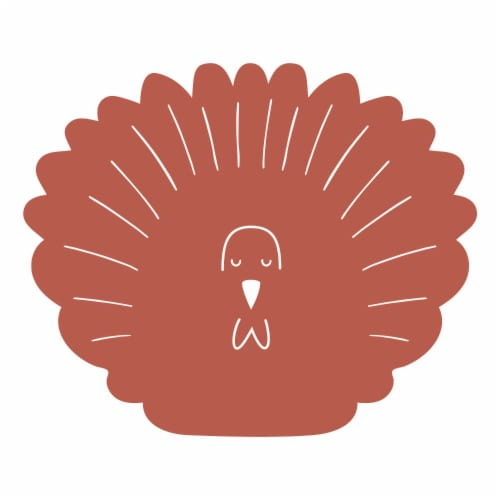 Holiday Home Turkey Shaped Felt Placemat Perspective: front