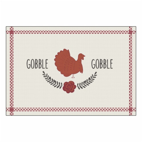 Holiday Home® Gobble Print Placemat Perspective: front
