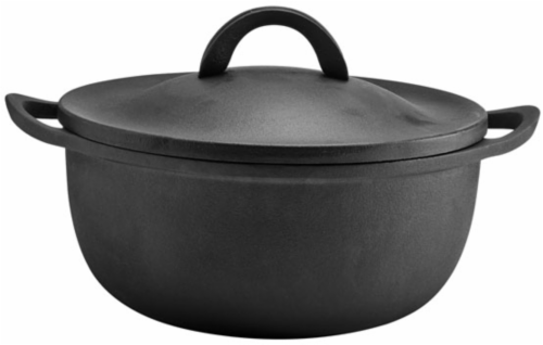Dash of That™ Rust-Resistant Cast Iron Dutch Oven with Lid - Black Perspective: front