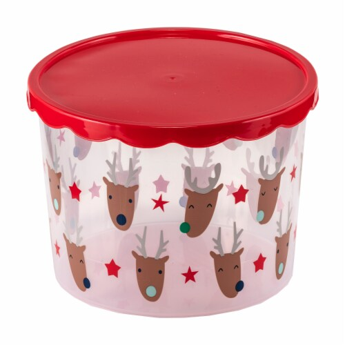 Holiday Home Reindeer Food Container Perspective: front