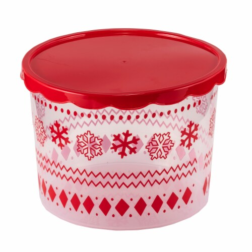 Holiday Home Snowflake Fairisle Food Container Perspective: front
