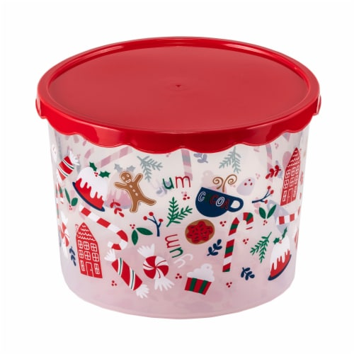 Holiday Home Treats Food Container Perspective: front