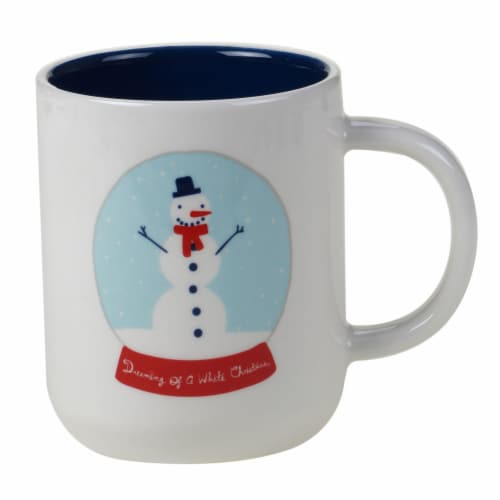 Holiday Home Reindeer Games Snowman Dreams Can Mug Perspective: front