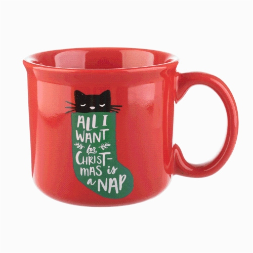 Holiday Home All I Want For Christmas Novelty Mug - Red Perspective: front