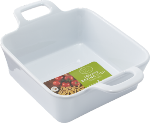 Dash of That™ Square Stoneware Baking Dish - White Perspective: front