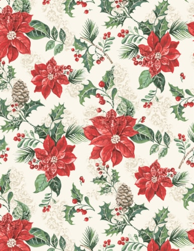 Lintex Poinsettia Joy Tablecloth Perspective: front