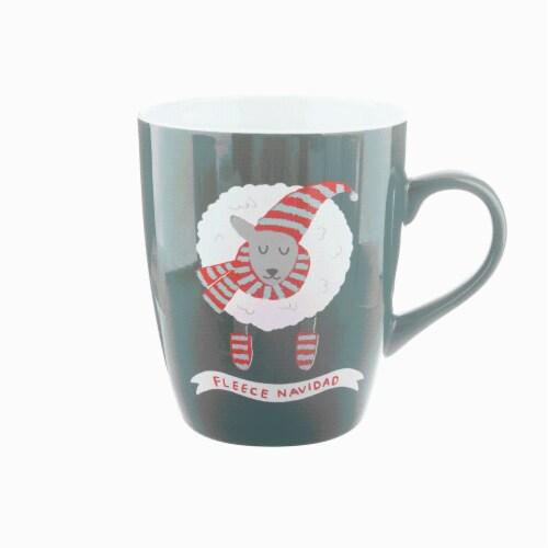 Holiday Home Fleece Navidad Jumbo Mug Perspective: front