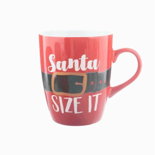 Holiday Home Santa Size It Jumbo Mug Perspective: front