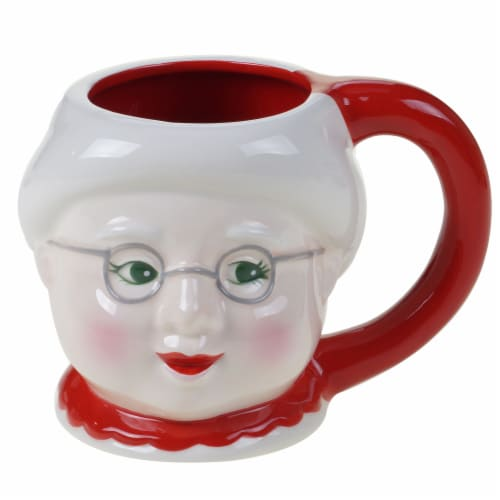 Holiday Home Home for Christimas Mrs. Clause Shaped Santa Mug Perspective: front
