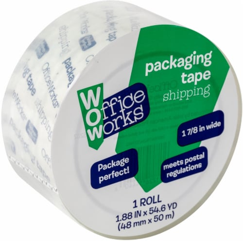 Office Works Shipping and Packaging Tape - Clear Perspective: front