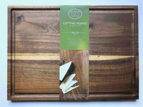 Dash of That® Acacia Wood Cutting Board Perspective: front