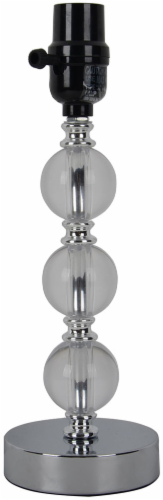 HD Designs Acrylic Ball Accent Table Lamp Base - Transparent Perspective: front