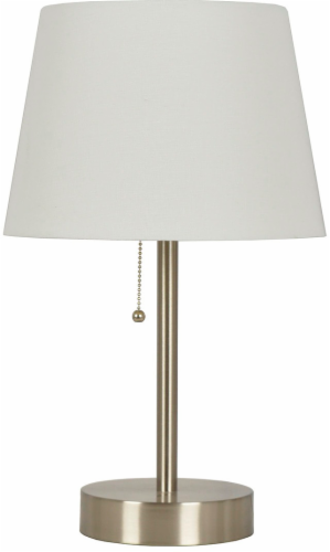HD Designs Stick Lamp with Shade - Silver/White Perspective: front